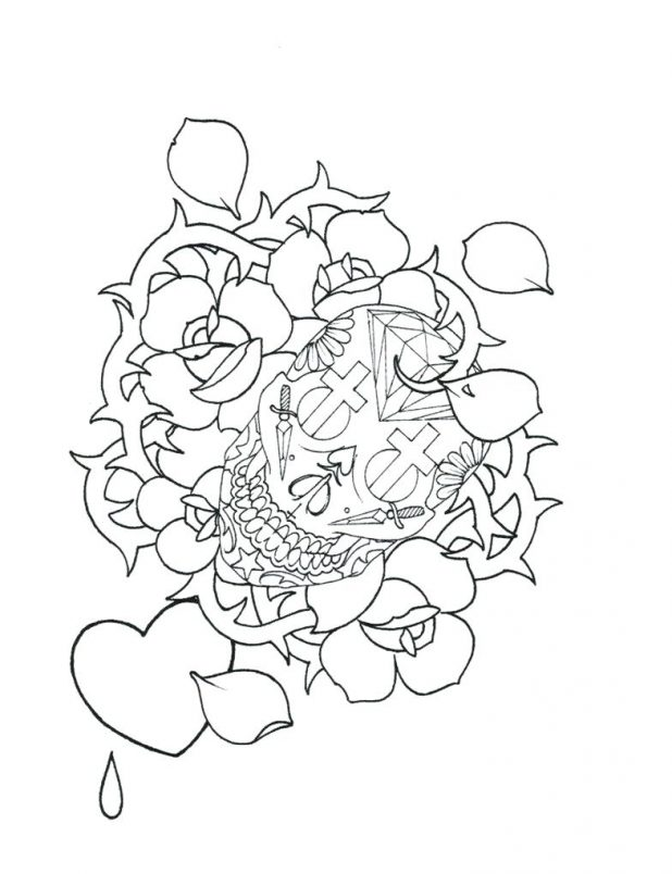 skull outline drawing at getdrawings com free for personal use
