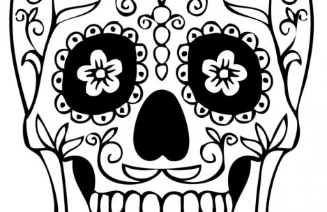 Easy To Print Coloring Pages For Adults : Skull simple drawing at getdrawings.com free for personal use