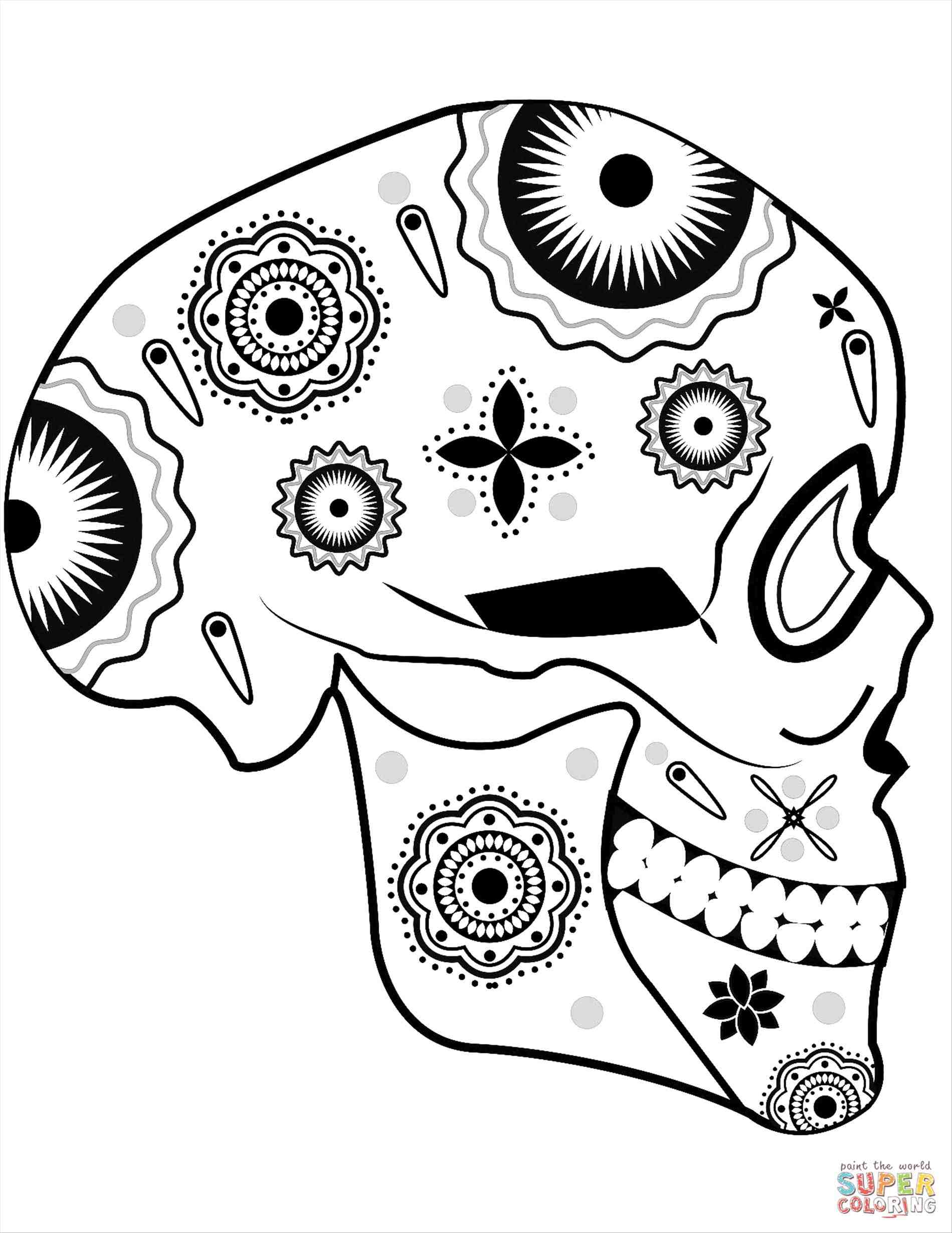 1899x2458 Download Image Creatinu Sugar Skull Drawing Tutorial. Step 5. How