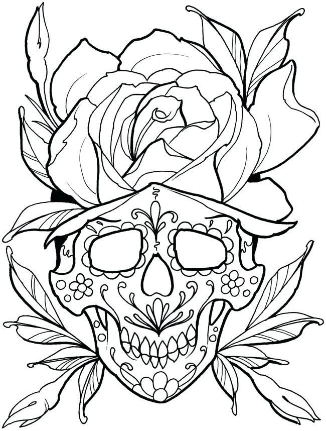 Skull Tattoo Drawing at GetDrawings.com | Free for personal use ...