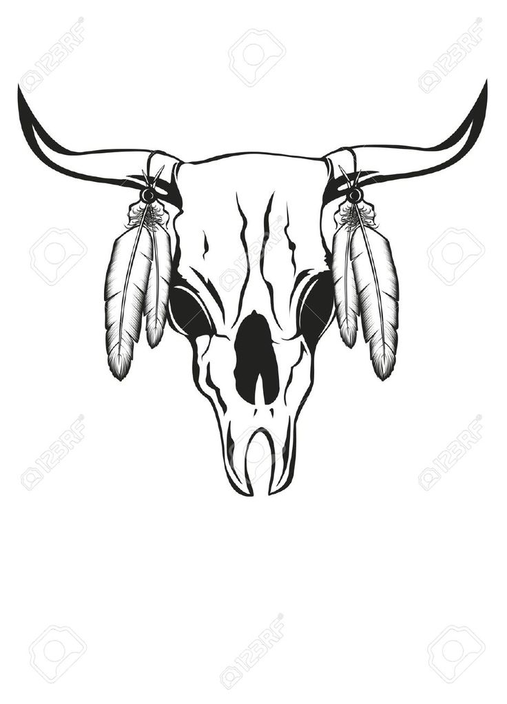 736x1022 The Best Cow Skull Tattoos Ideas On Taurus Tattoos