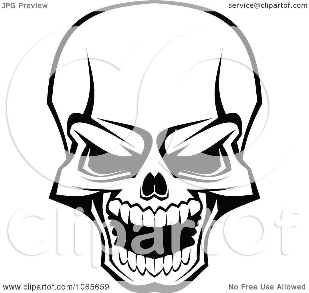 1080x1024 Clipart Scary Skull 3