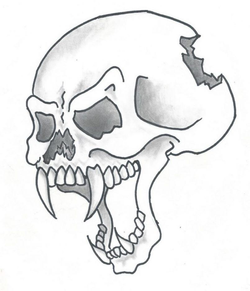 805x937 Coloring How To Draw A Cool Skull On Fire Also How To Draw Cool