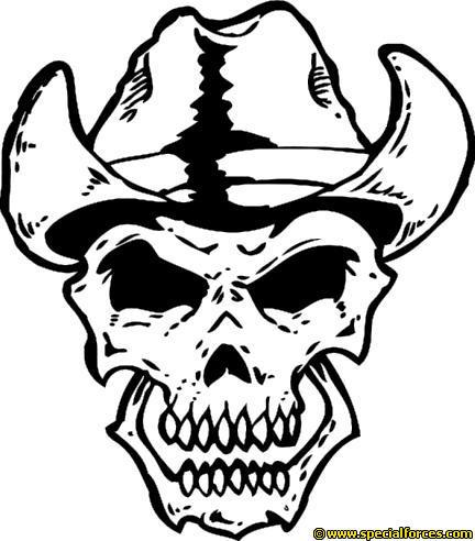 432x492 Cowboy Clipart Skull