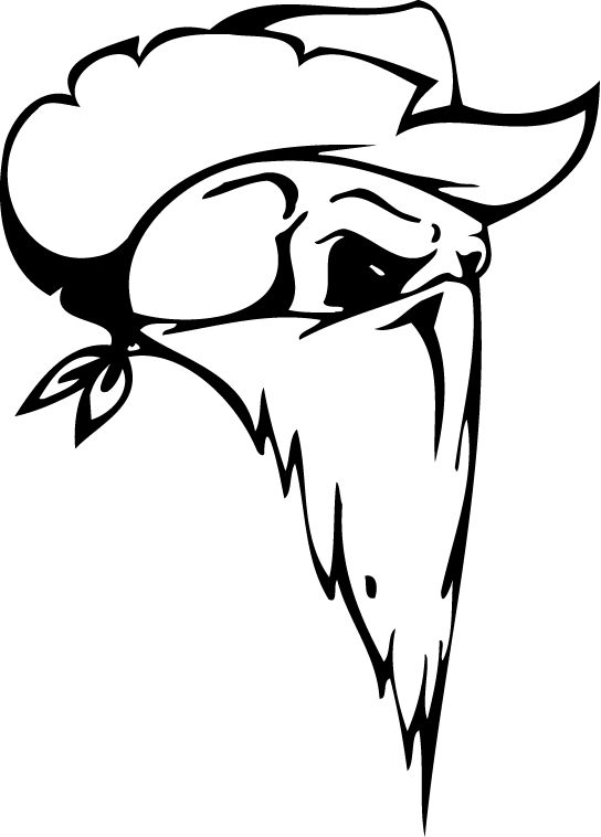 544x758 30 Images Of Cowboy Skull Template
