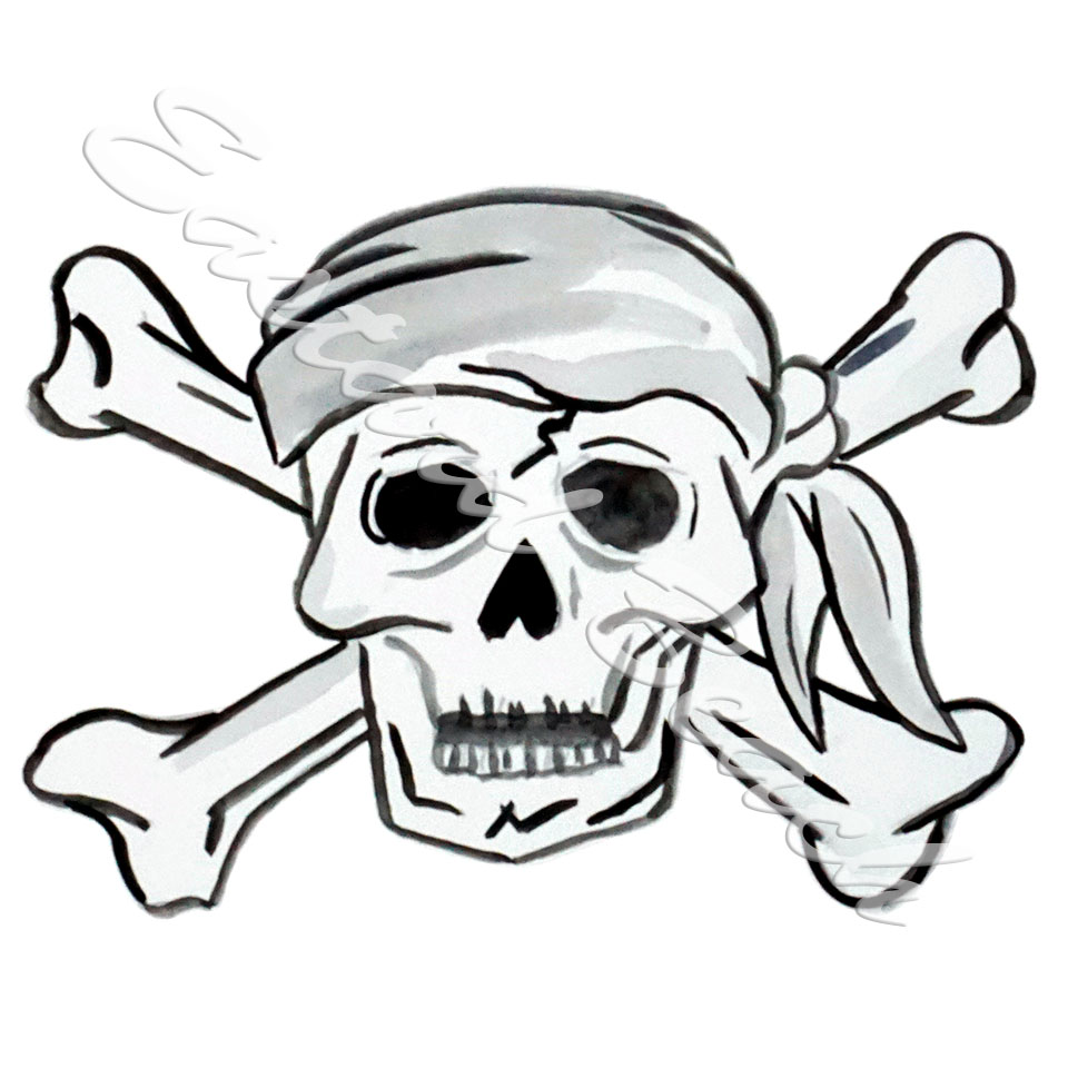 960x960 Pirates And Skeletons Eastard Beach, Wildlife Decals And Stickers.