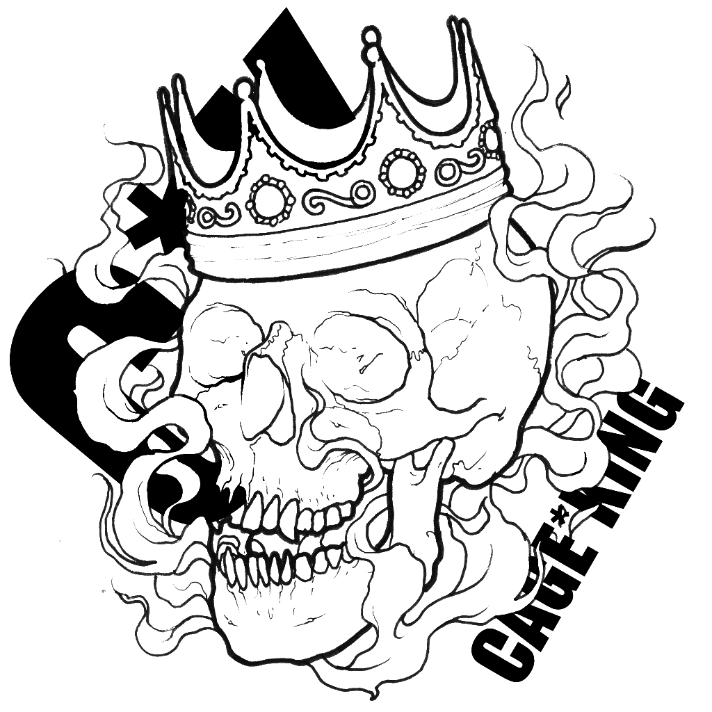 Skull With Crown Drawing