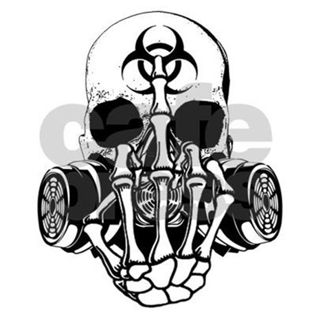 460x460 Biohazard Zombie Skull Fuck U Aluminum License Pla By Ratherkoolshop 2