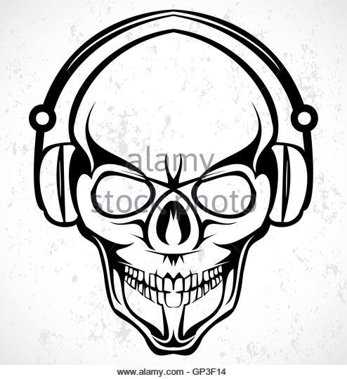 494x540 Skeleton Headphones Stock Photos Amp Skeleton Headphones Stock