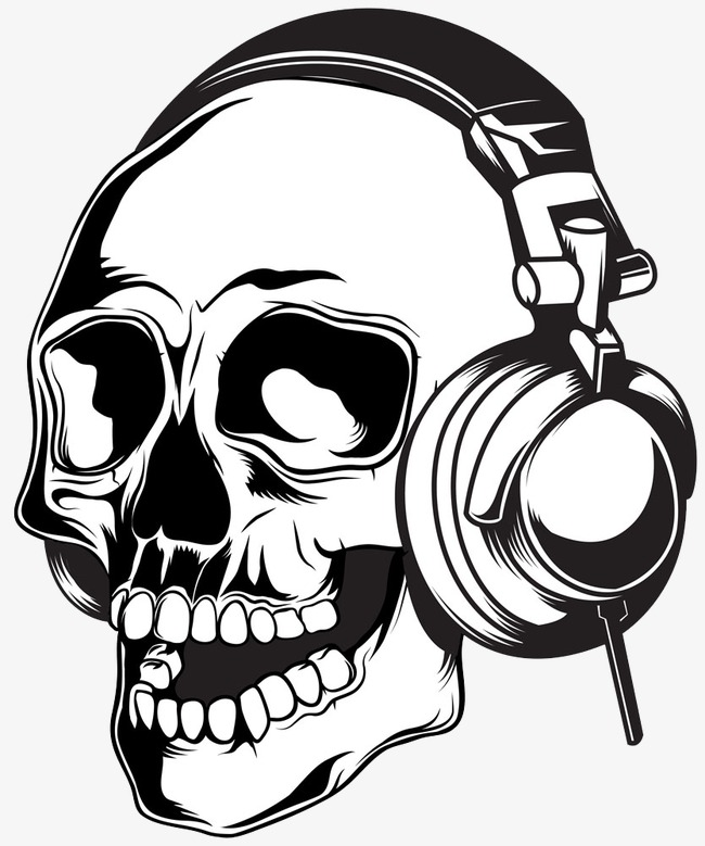 650x779 Skeleton Wearing Headphones, Headset, Skull, Creative Creative Png