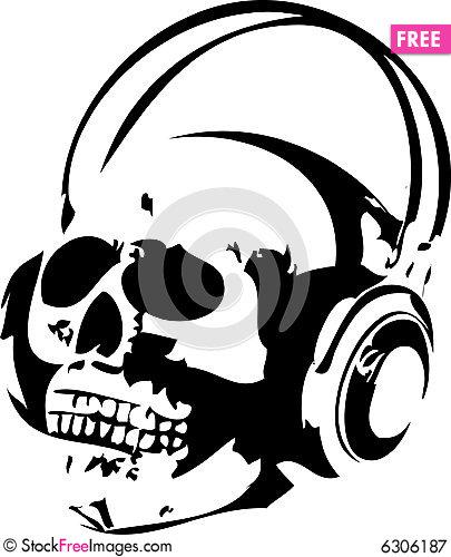 405x500 Skull And Headphones