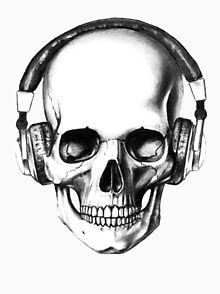 220x294 Skull Headphones T Shirts Redbubble