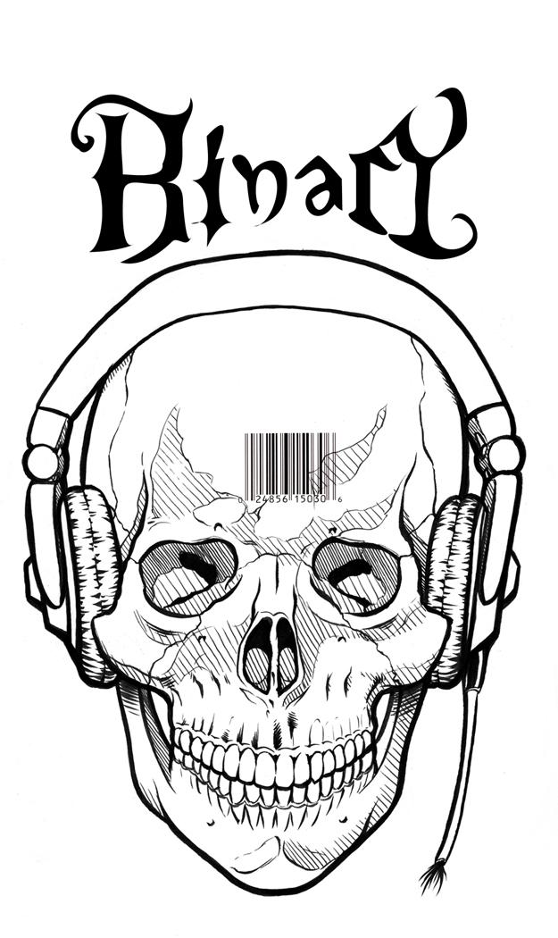 625x1050 Skull N Headphones Inked By Snigom
