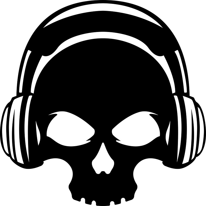 800x799 Skull With Headphones Stickers By Spy8 Redbubble