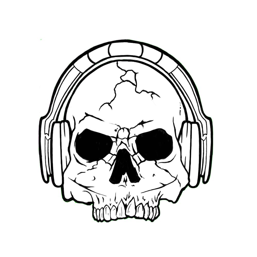 1000x1000 Skull N Headphones By Raidanthunder