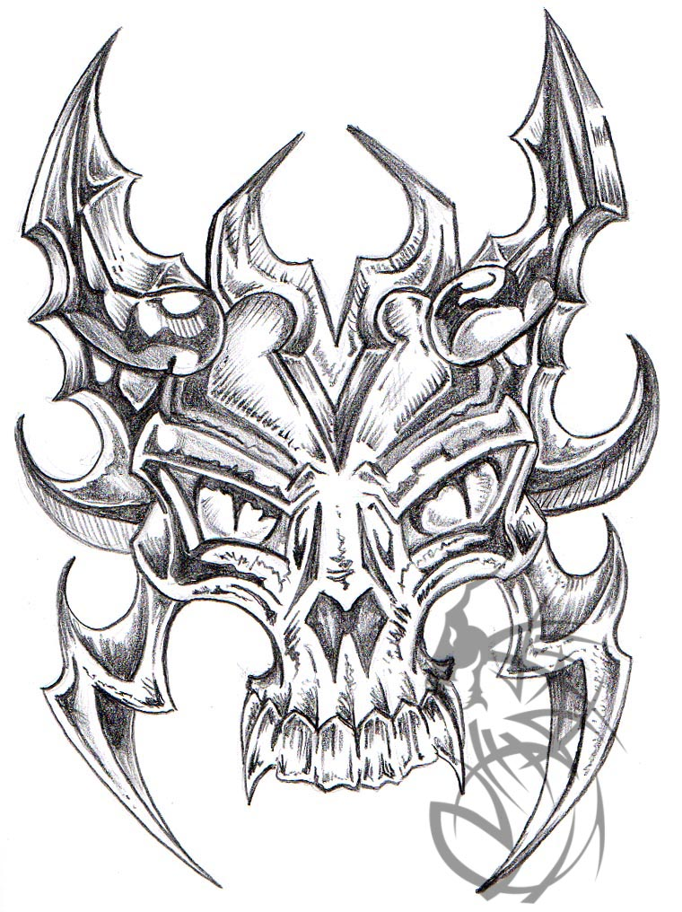 760x1016 Skull With Horns By Crashjensen