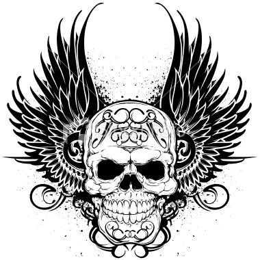 380x380 Gun N Roses Skull Tattoo Drawing Photo