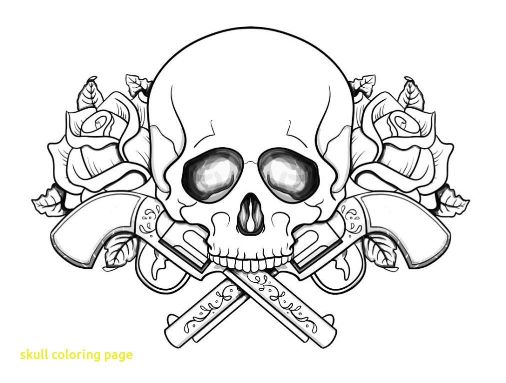 1013x768 Skull Coloring Page With Pages Guns And Roses On Skull And Roses