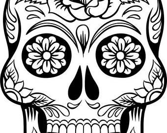 340x270 Sugar Skull Roses Etsy