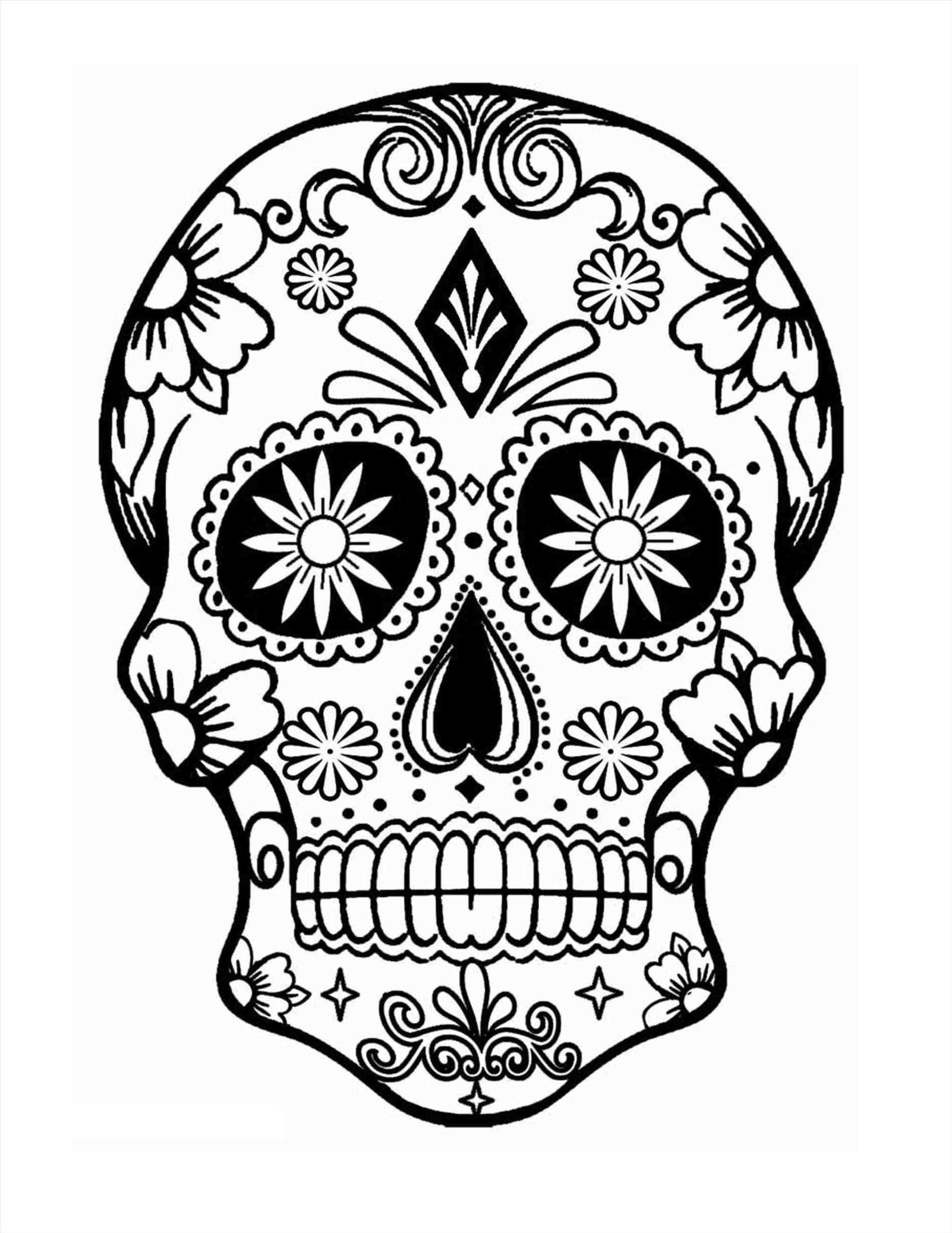 1899x2459 Sugar Skull And Rose Drawing