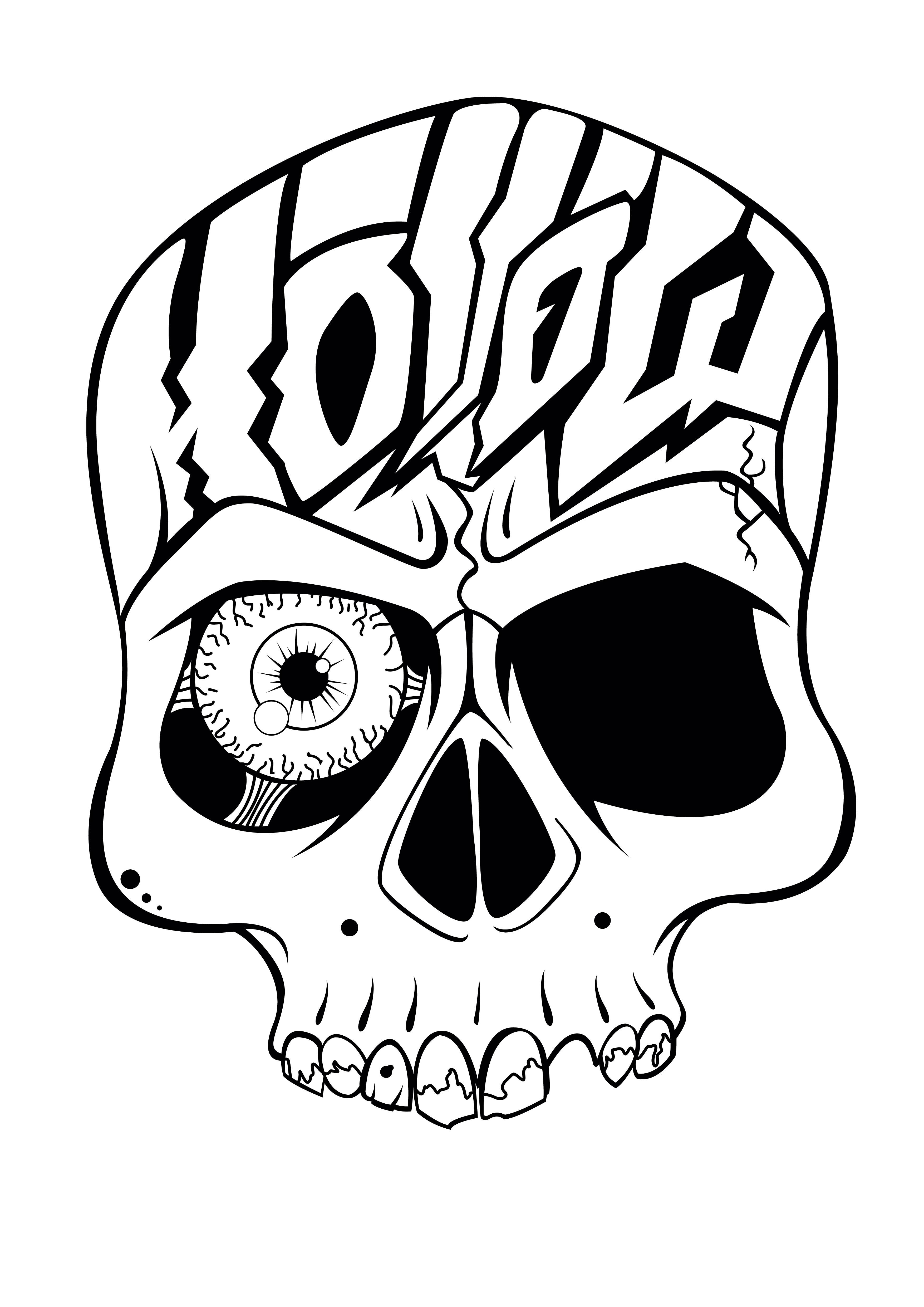 3508x4961 Fire Skull Drawing Clip Art Free Clipart
