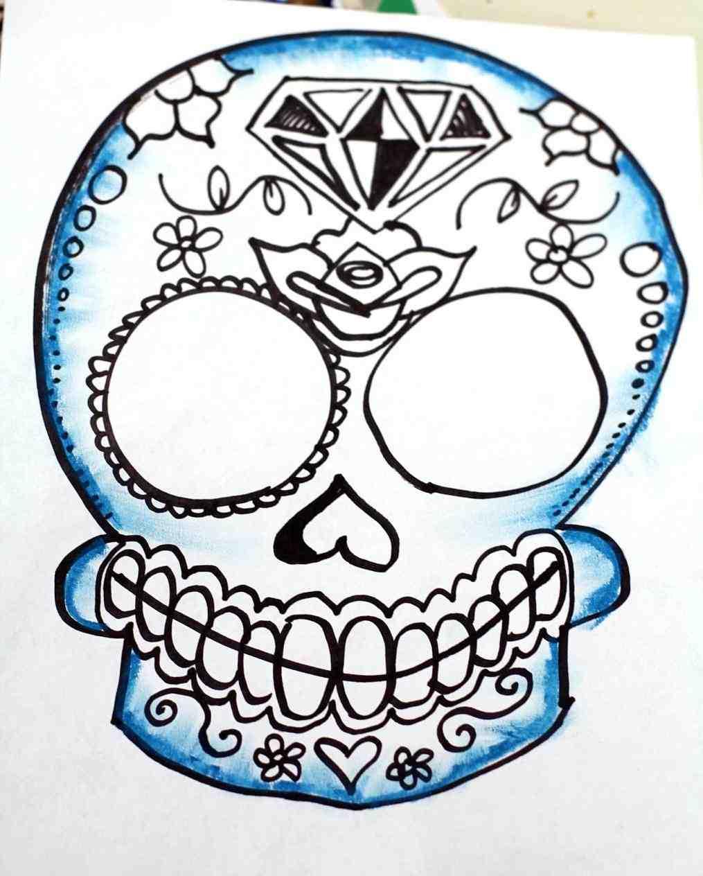 1015x1264 Cool Easy Drawings Of Skulls