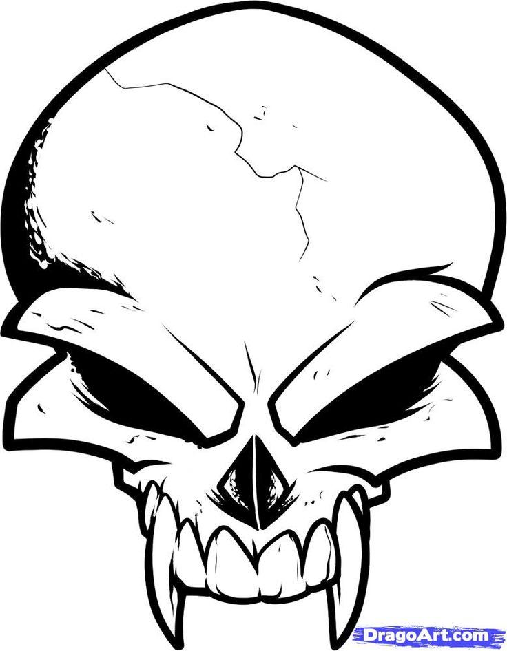 736x946 Easy Skull Drawing Ideas
