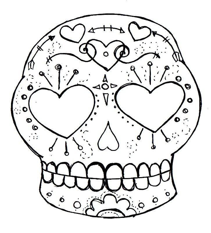 726x800 Blank Sugar Skull Template With Draw A Sugar Skull Step By Step