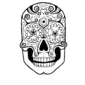 300x300 How To Draw A Sugar Skull Step By Step Sugar Skulls