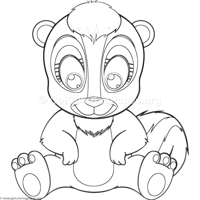 Skunk Drawing Outline at GetDrawings.com | Free for personal use ...