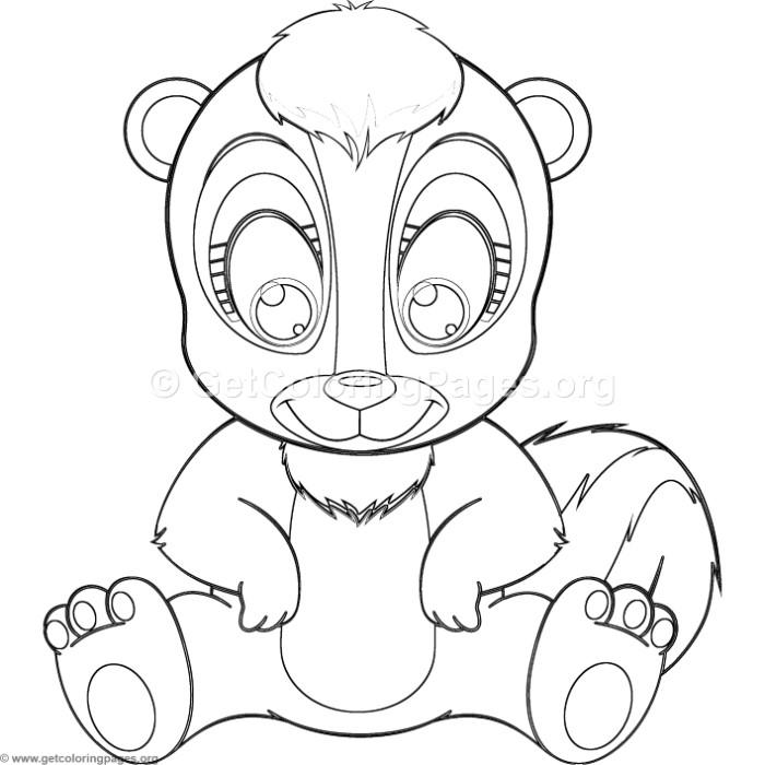 Skunk Drawing Outline at GetDrawings   Free download