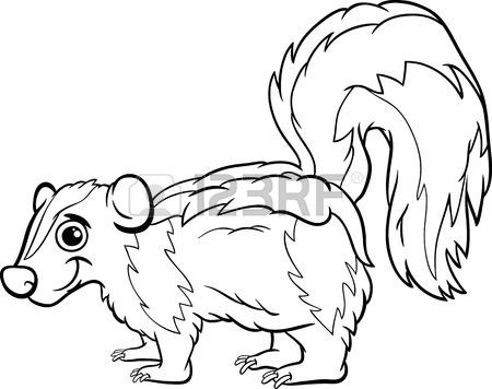 Skunk Line Drawing