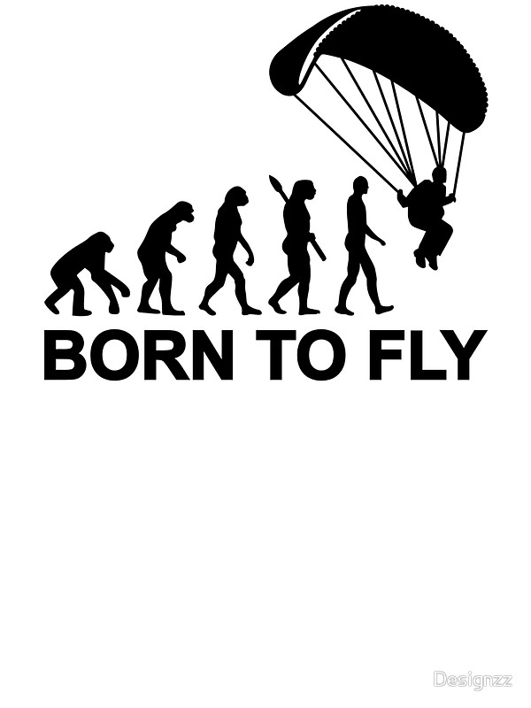 600x800 Evolution Skydiving Born To Fly Stickers By Designzz Redbubble