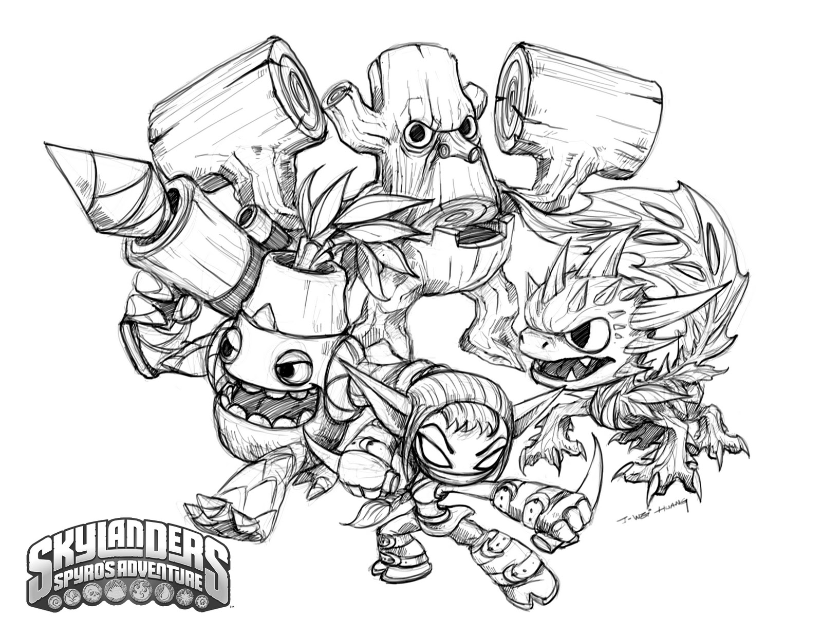 Skylander Drawing at GetDrawings.com | Free for personal use ...