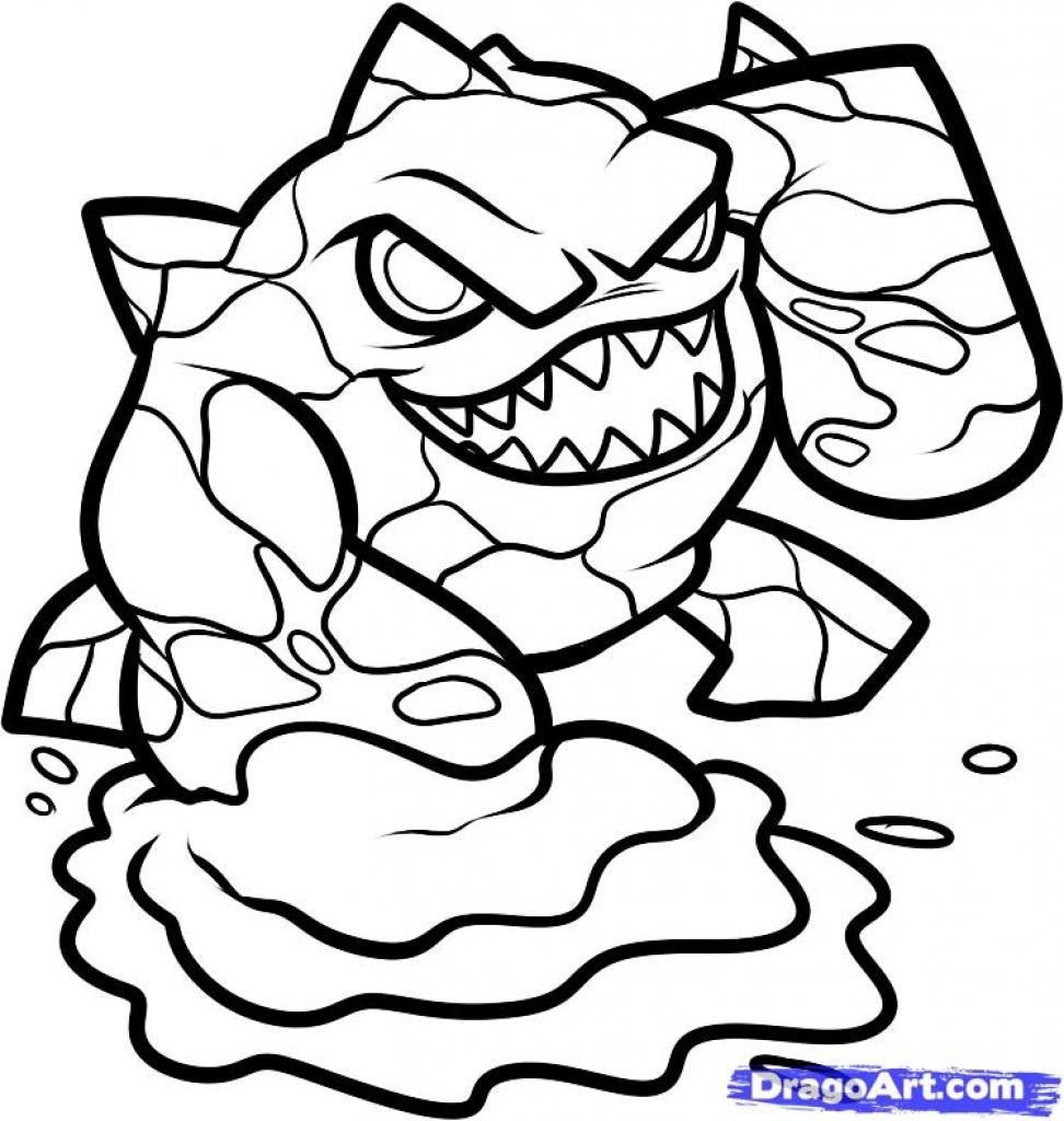 972x1024 Skylanders coloring pages How To Draw Eruptor, Skylanders Step 6
