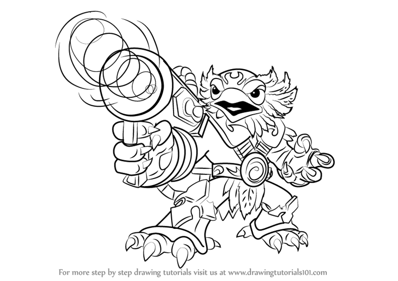 skylander wrecking ball coloring pages | Skylander Drawing at GetDrawings.com | Free for personal ...