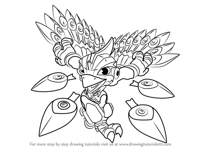 800x567 Step By Step How To Draw Stormblade From Skylanders