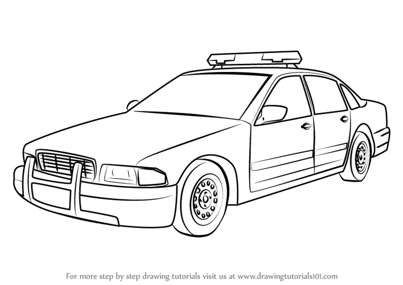 800x566 Learn How To Draw A Police Car (Police) Step By Step Drawing