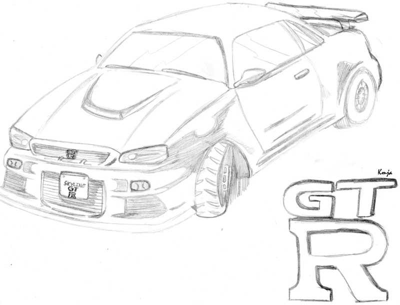800x609 Skyline Gtr Sketch By Kar7chan