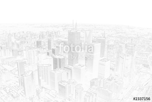 500x334 Pencil Drawing Of A Toronto City Skyline Stock Photo And Royalty