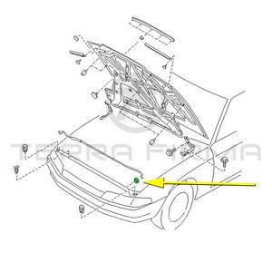 300x300 Nissan Skyline R32 Gtr Gtst Gts 4 Hood Support Rod Grommet 65512 R3000