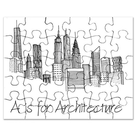 460x460 A Is For Architecture Skyline Puzzle By Admin Cp81391117