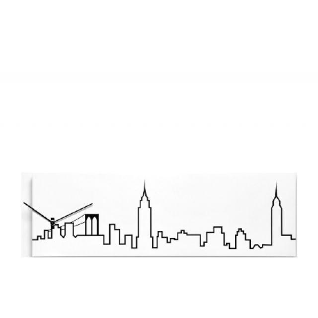 640x640 Skyline 1830 New York, Wall Clock, Progetti,