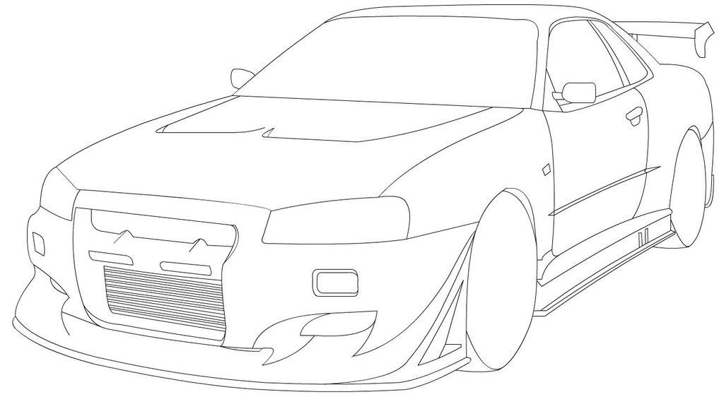 1024x562 Skyline Line Art 2 By Leetghostdriver