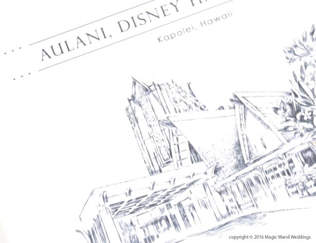 650x500 Aulani Disney Hawaii Skyline Wedding Invitations