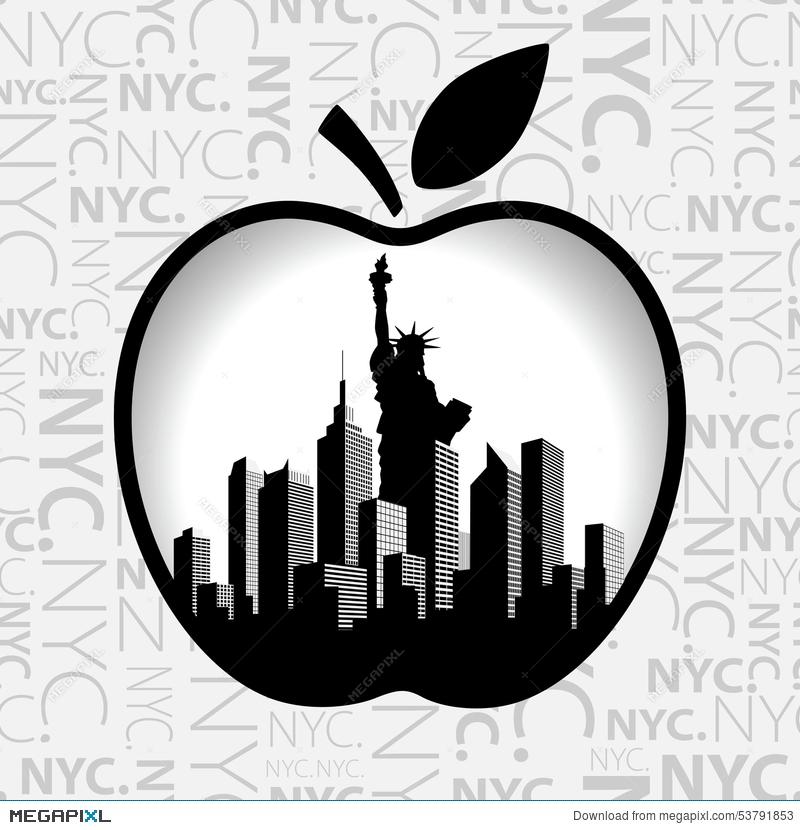 800x830 New York City In Big Apple. Illustration 53791853