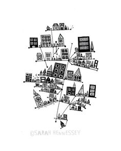236x295 New York City Skysraper Illustration Drawings By Mucontinent