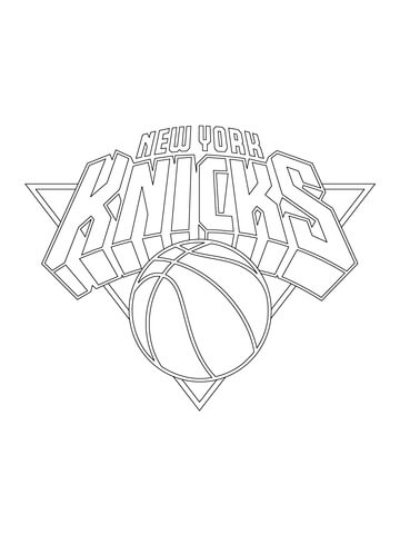 360x480 New York Knicks Logo Coloring Page Free Printable Coloring Pages