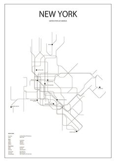 236x330 Manhattan City Print, Manhattan And City