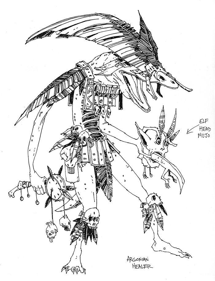 Skyrim Daedric Armor Drawing